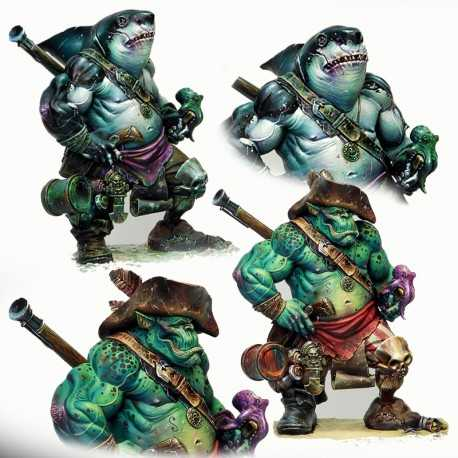 Dzhur-ghul the robber (orc / shark pirate)